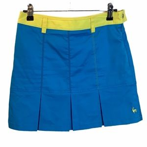 NWOT Le Coq Sportif Blue Golf Skort Size 65 Small